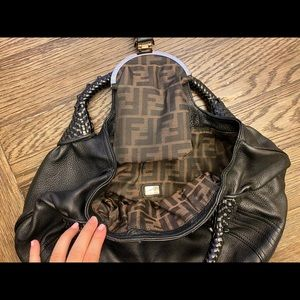 Fendi Hologram Spy Bag Black Leather authentic